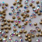 Various Size Crystal AB Color Rhinestones Crystal Glass Chatones Strass