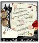qty 50 Love Letter Scroll Wedding Party Invitations Invites