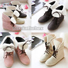 3 Colors Women's Elegant Style Lace Up Winter Flat Short Boots Ankle Shoes N98B