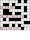 Crossword Edible Icing Cake Topper  Square 3 sizes