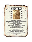 qty 50 Western Wanted Birthday Scroll Wedding Party Invitations Invites