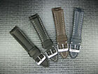 New 22mm Genuine CALF Leather Strap Tang Buckle Watch Band Fit BREITLING