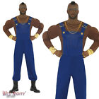 """FANCY DRESS COSTUME # MENS 80s A-TEAM B A BARACUS MR T DUNGAREES SIZE 38""""-48"""""""