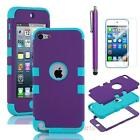 Heavy Duty Hybrid High Impact Hard Case Cover for iPod Touch 5 itouch 5th Gen