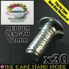 30 x Cake Stand Handle Bottom Plate Low Profile/Flat Head Screw/Slotted Bolts