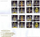 The Crown Jewels Royal Mail Stamps FDE / FDC 23.08.2011