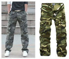 New Men's Fashion Casual Loose Overall Army Cargo Camouflage Pant Jeans Trousers