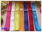 Wholesale Bulk Lot 10x Baby Girl Infant Headbands Lace Elastic Kids Hair Bands