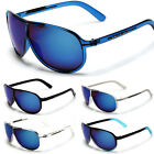 Arctic-Blue Fashion Aviator Men's Women's Sunglasses BlueTech Lens Black White