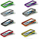 New TPU Bumper Color Rubber Skin Frame Cover Case W/ Metal Buttons For iPhone 5