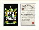 STAPLETON Family Coat of Arms Crest + History - Available Mounted or Framed