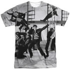 Elvis Presley Jubilant Felons All Over Sublimation Poly Licens Adult Shirt S-3XL