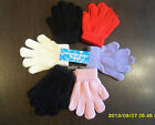 CHILDRENS MAGIC GLOVES GIRLS BOYS KNITTED BLACK NAVY CREAM RED LILAC PINK WINTER