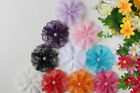 10x Lace Large Wedding Flower DIY for Headbands Hair Clips Craft Embellishments