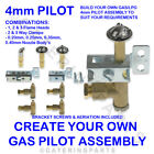 BUILD YOUR OWN 4mm UNIVERSAL GAS PILOT LIGHT ASSEMBLY 1,2,3 WAY FLAME NAT OR LPG