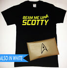 Beam Me Up Scotty T-Shirt with Star Trek Symbol Packaging