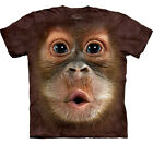 The Mountain Big Face Baby OrangutanLicensed CottonT Shirts