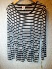 Oh Baby by Motherhood Stripe Cotton Maternity Tee top shirt L , XL NEW free ship