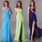 One Shoulder Sexy Bridal BridesmaId Cocktail Evening Party Prom Gowns Dresses