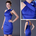 2015 Sexy Satin Short Vintage Clubwear Bridesmaid Party Gowns Evening Prom Dress