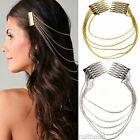 New Womens Girls Chic Hair Cuff Pinhead Chains 2 Combs Tassels Fringes Boho Punk