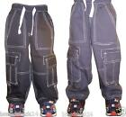 100% Organic Cotton Boys Combat Cargo Pants Sizes Age 1-2 , 3-4, 5-6 - 2 COLOURS