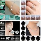 SPECIAL PRICE 925SILVER Womens Bracelet necklace ring earring Christmas GIFT