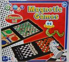 Magnetic 4 BOARD GAMES in 1 Travel Ludo Chess Draughts Snakes & Ladders Case