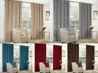 VELVET RINGTOP LINED WINDOW & DOOR CURTAINS  BROWN RED GREY BLUE BEIGE