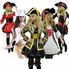 Pirate Fancy Dress Costume Plus Size 6 - 22 Ladies Halloween Outfit Womens Hat