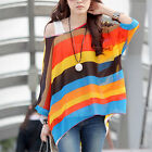Sexy Women's Short Batwing Sleeve Chiffon Shirt Bohemian Tops Oversized Blouse