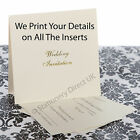 50 Pocketfold Foiled Wedding Invitations & We Print Your Details on the Inserts