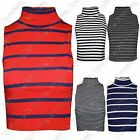 NEW WOMENS LADIES CROPPED STRIPE POLO ROLL NECK TOPS STRETCH BODY CROP  VEST TOP