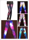 Women Fashion Clubbing Universe Galaxy Print Leggings Top Quality RRP£60