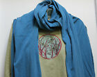 EARTH CREATIONS SCARF Organic Cotton USA MADE shawl wrap long wide