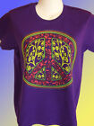 NEW HIPPY PEACE T-SHIRT - Pink and Yellow Flowers