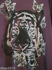 New Ladies Plum Tiger Print Top Size16-18-20-22/24-26/28-30/32 Plus Size
