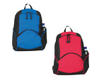 CLASSIC PLAIN ZIPPED RUCKSACK - SCHOOL COLLEGE BACKPACK CARRY BOOK BAG BAGS