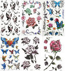 Temporary Tattoo sticker ladies body art Party christmas butterfly rose sexy NEW