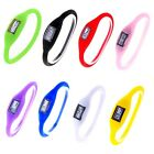 Top Wristwatch Digital Silicone Rubber Jelly Anion Sports Bracelet Watches Stock
