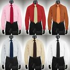 Giorgio Ferraro 6 Colors All Sizes Mens Dress Shirt Spread Collar Cotton Blend