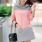 Sweet Girls Hoodie Sweaters Women's long-sleeved Pullover THICKEN Mini Dress new