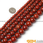 "Natural Red Jasper Gemstone Round Beads For Jewelry Making 15"" 4mm 6mm 8mm 10mm"