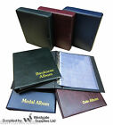 CLASSIC COIN / MEDAL / BANKNOTE ALBUM & SLEEVES, BLUE RED OR GREEN -ADD SLIPCASE
