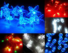 Battery LED Christmas Fairy Lights 20 LED BLUE, Red,10 LED Star Snowflake XMAS