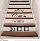 Ho Ho Ho Christmas Stairs Vinyl Decal Stickers Xmas Staircase Decoration ST1100