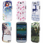 Reindeer Santa Claus Castle Hard Back PC Case Cover for Samsung Galaxy S3 i9300