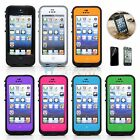 For Apple iPhone 5 5s PC Waterproof Shockproof Hard Cover Case With Film Protec