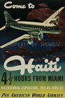 Pan Am Airline vintage retro print poster, large 4 sizes available, Airline 101