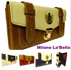 BNWT LYDC Designer Womens Celebrity Vintage Leather Satchel Purse Bag Wallet
